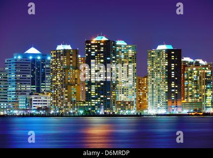 Immeubles de bureaux au lieu d'échange, Jersey City, New Jersey Banque D'Images