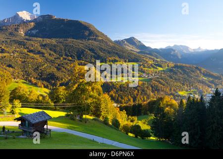 Aperçu de Berchtesgaden, en Bavière, Allemagne, Europe Banque D'Images
