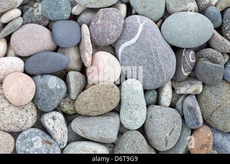 L'État de Washington, USA, San Juan Islands, Clark Island, plage de rochers Banque D'Images