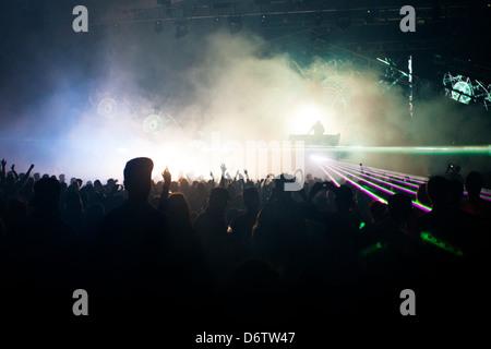 DJ Set à Summadayze à Melbourne, Australie Banque D'Images