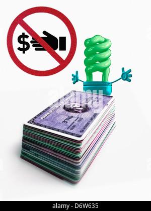 L'énergie de remplacement, Money Concept Banque D'Images