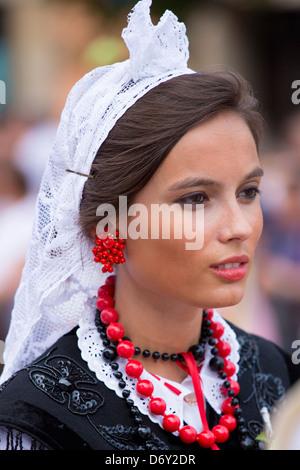 Fiesta traditionnelle à Villaviciosa dans les Asturies, dans le Nord de l'Espagne Banque D'Images