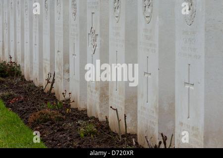 Cimetière militaire et Mémorial français de seconde guerre mondiale (1939-1945) à Hermanville-Sur-Mer, Normandie, Banque D'Images
