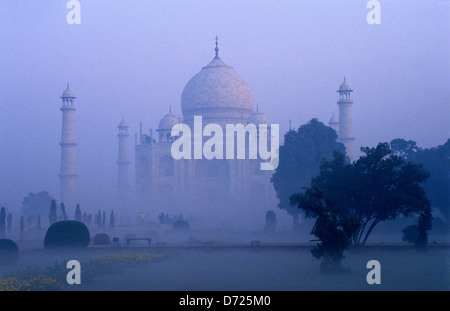 Le Mausolée du Taj Mahal.Agra. L'Uttar Pradesh.L'Inde. Banque D'Images