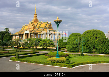 Moonlight Pavilion, du Palais Royal, Phnom Penh, Cambodge Banque D'Images