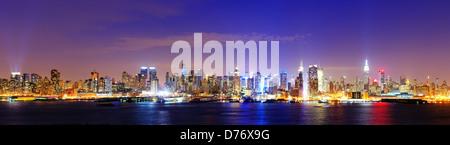 New York city skyline célèbre à Midtown Manhattan Banque D'Images