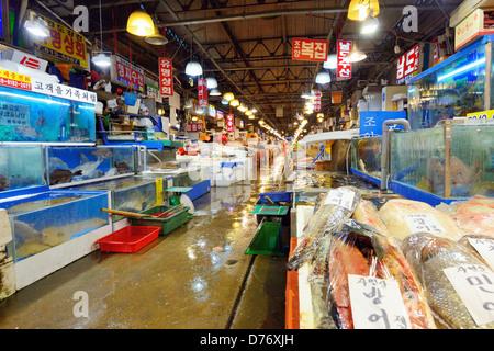 Marché de gros de la pêche Noryangjin à Séoul, Corée du Sud Banque D'Images