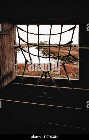 Vue depuis une embrasure à Fort King George à Darien George Banque D'Images
