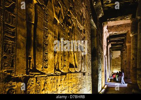Memorial Temple de Seti I, Abydos, Egypte Banque D'Images