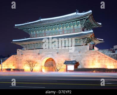Porte Dongdaemun de Séoul, Corée du Sud Banque D'Images