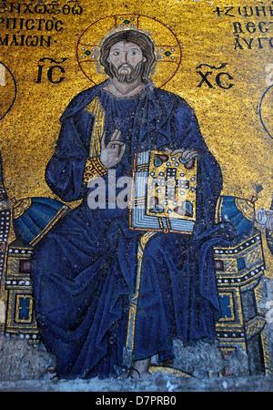 Dans la mosaïque orthodoxe Sainte-sophie, Istanbul, Turquie Banque D'Images