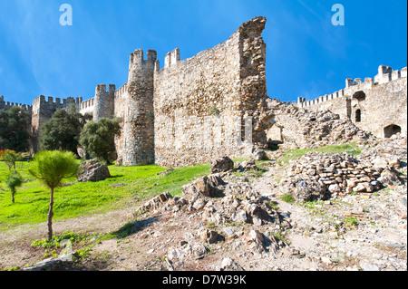 Anamur Mamure château, Anatolie, Turquie, au sud-ouest mineur Banque D'Images