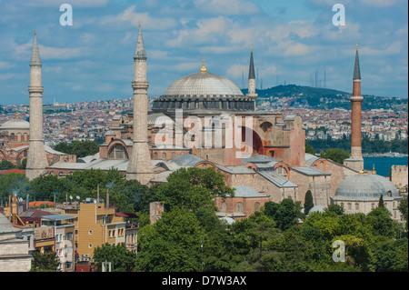 Le musée Hagia Sophia, UNESCO World Heritage Site, Istanbul, Turquie Banque D'Images