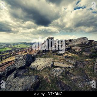 Curbar Edge, Derbyshire Banque D'Images