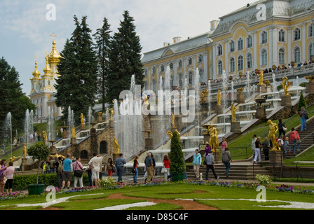 Fontaines du palais de Peterhof, Peterhof, Russie