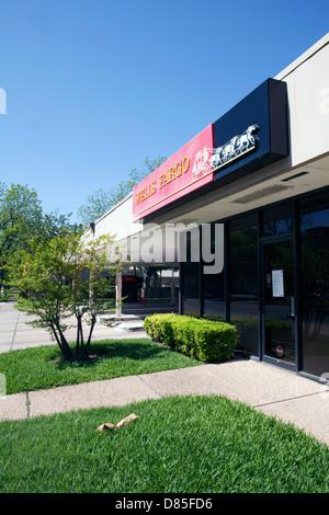 Vue d'une unité de la direction générale de la Wells Fargo à Austin, Texas Banque D'Images