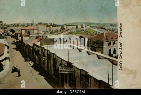 La porte de Jaffa Road Jérusalem Banque D'Images