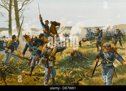 Bataille de Nuits 1870 Banque D'Images