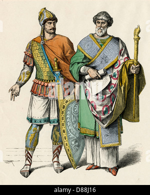 Costume byzantin C5 Hommes Banque D'Images