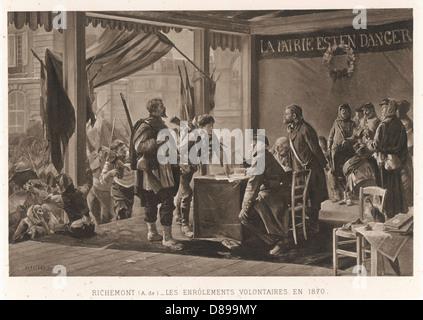 Bénévoles, 1870 Banque D'Images