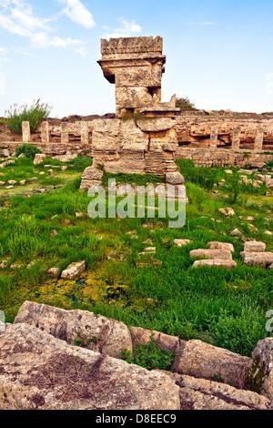 Syrie - ancienne place Tartus Amrit Banque D'Images