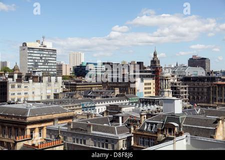 Vue nord-est sur le centre-ville de Glasgow à partir de la plate-forme d'observation dans le bâtiment phare, Ecosse, Banque D'Images