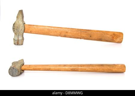 Hammer isolé sur fond blanc Banque D'Images