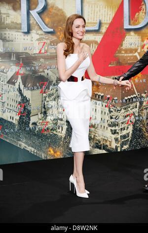 Berlin, Allemagne. 4 juin 2013. ANGELINA JOLIE.World War Z Allemagne premiere.Berlin, Allemagne.Le 04 juin 2013.(Image Banque D'Images