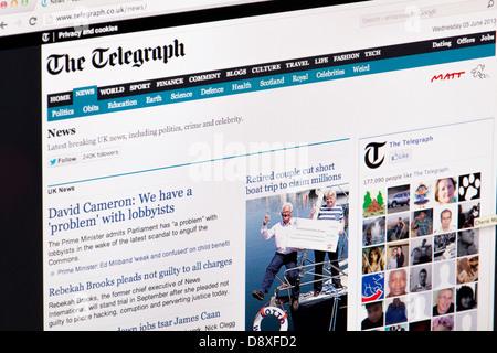 Le Telegraph Journal Site Web ou page web sur un écran d'ordinateur portable ou un écran d'ordinateur Banque D'Images