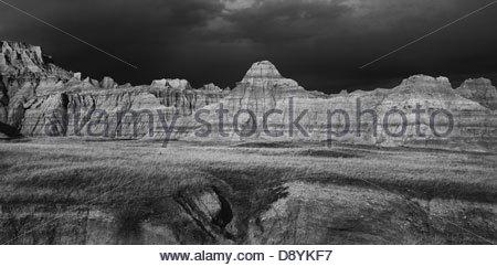 Rock formations at badlands national park (Dakota du Sud) Banque D'Images