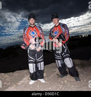 Les hommes le paintball, la Suède. Banque D'Images