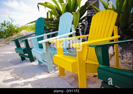 En bois couleur chair on beach Banque D'Images
