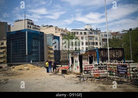 Istanbul, Turquie. 8 juin, 2013. Vue générale de la zone où ils ont été avait commencé les travaux qui ont mené Banque D'Images