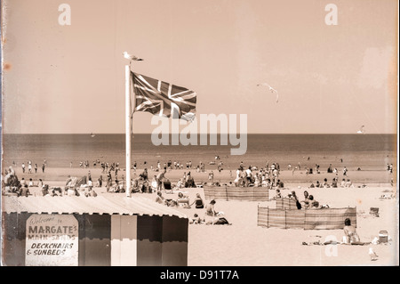 Angleterre Anglais GO Main Sands Margate Kent UK Banque D'Images