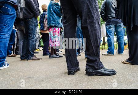 Les gens lieux à Speaker's Corner à Hyde Park. Londres, Angleterre.