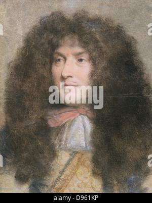 Louis XIV (1638-1715) Roi de France de 1643. Louis comme un jeune homme. Pastel de l'artiste française Charles le Banque D'Images