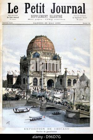 L'Exposition de Chicago, 1893: pavillon du gouvernement américain. À partir de 'Le Petit Journal' Paris 20 mai Banque D'Images