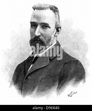 Pierre Curie (1859-1906), chimiste français. Reçoit le Prix Nobel de physique en 1903, conjointement avec sa femme, Banque D'Images