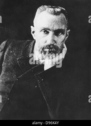 Pierre Curie (1859-1906) chimiste français, époux de Marie Curie. En 1903 le prix Nobel de physique partagé avec Banque D'Images