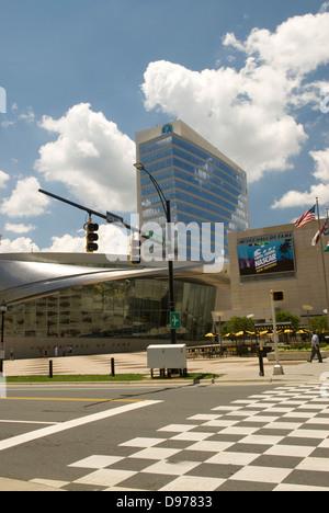 NASCAR Hall of Fame de concordance à damiers Charlotte NC USA Banque D'Images
