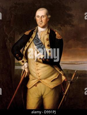 Portrait de George Washington peint en 1776. Par Charles Willson Peale (1741-1827). George Washington (22 février Banque D'Images