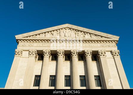Bâtiment de la Cour suprême, dans l'est de façade, Washington D.C., USA Banque D'Images