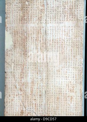 Décret de la Boule (Parlement) et les démos des Athéniens réglementer les relations d'Athènes avec Chalcis. 446/5 Banque D'Images