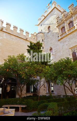 Ancien Marché de la soie, Valencia, Espagne Banque D'Images