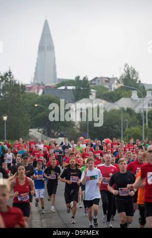Reykjavik Marathon 2012, Reykjavik, Islande, régions polaires Banque D'Images