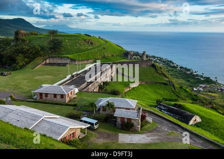 La forteresse de Brimstone Hill, UNESCO World Heritage Site, Saint Kitts, Saint Kitts et Nevis, Iles sous le vent, Antilles, Caraïbes Banque D'Images