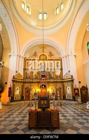 Église Saint Nicolas, vieille ville (Stari Grad), Kotor, baie de Kotor, site classé au Patrimoine Mondial de l'UNESCO, Banque D'Images