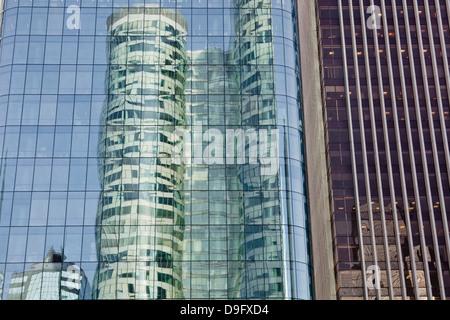 Les immeubles de bureaux de grande hauteur dans le quartier de la défense Paris, France Banque D'Images