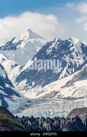 D'entrée de l'Université Johns Hopkins, Fairweather Range, et la Réserve de parc national Glacier Bay, sud-est de Banque D'Images