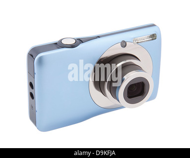 Appareil photo numérique compact avec clipping path Banque D'Images